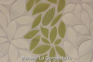 perdele_living_model_floral_verde_alb