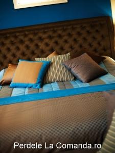 PxxA010-perne-decorative-dormitor-albastru-portocaliu-dungi-maro