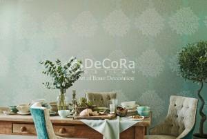 LSDAE04-tapet_decorativ_ieftin_verde_turcoise_imprimeuri