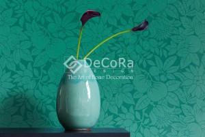 LSDO003_tapet_ieftin_turcoaz_albatru_verde_motive_florale